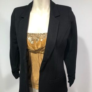 NWT CANDIES open front ruched sleeves jacket M